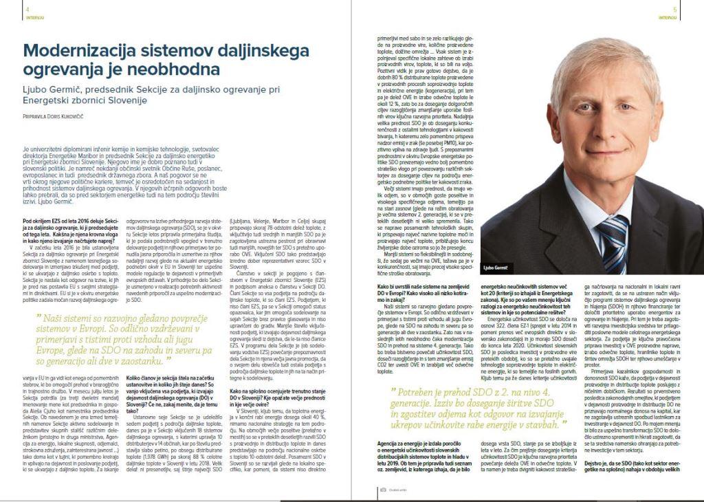 Intervju: Modernizacija sistemov daljinskega ogrevanja je neobhodna